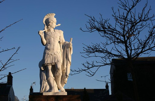 Statue to Emperor Hadrian in Brampton